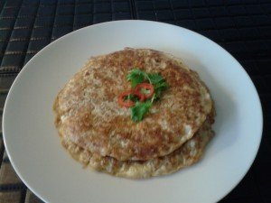 Cooked Preserved Radish Omelette