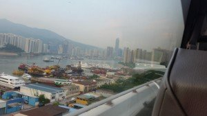 Approaching Hong Kong from the airport - not a beautiful sight.