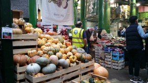 Pumkins of all shapes and sizes. including spaghetti squash - not easily available in supermarkets