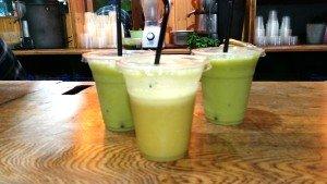 Health fruit drinks, Brazilian and combo of banana, mango and orange
