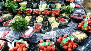 Fruits and vegetables from all over the world