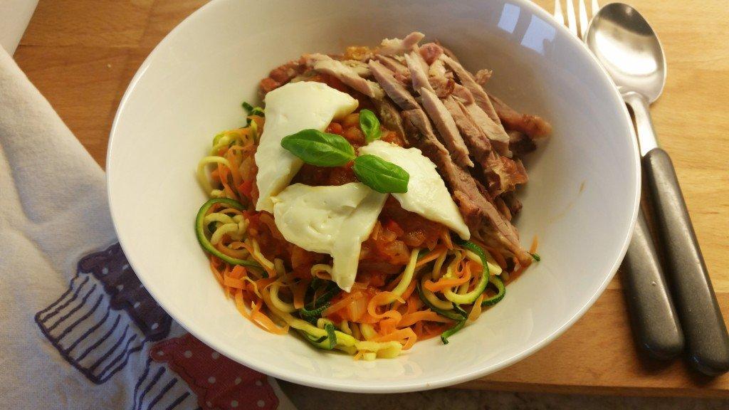 Zoodles pasta
