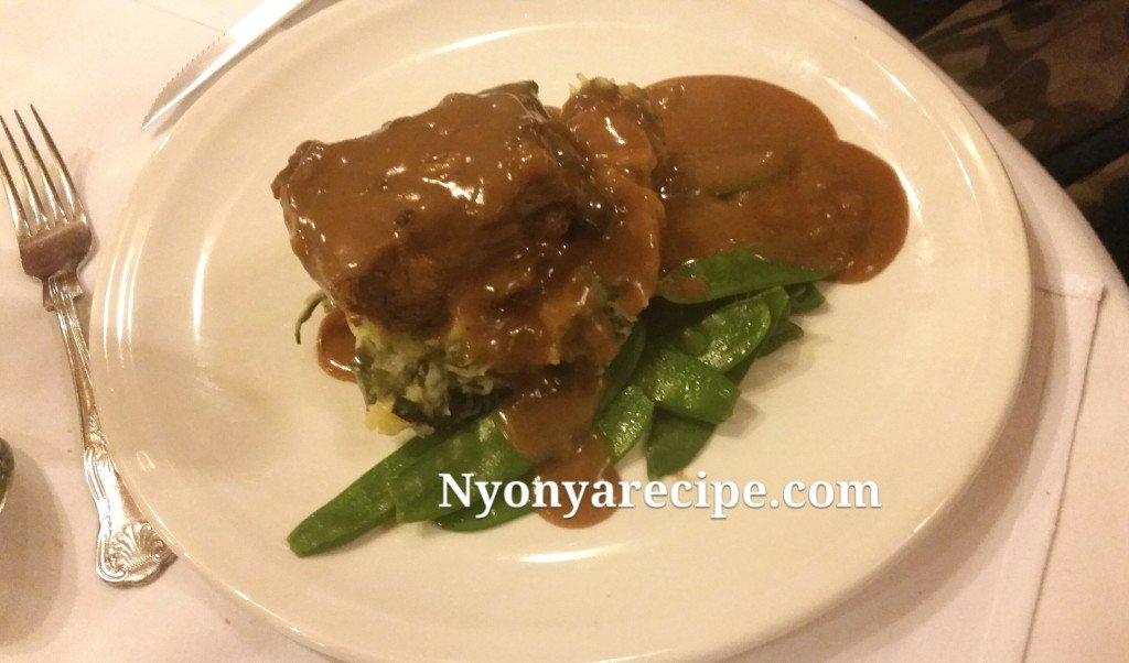 Pork Belly with Garden Vegetables and Gravy