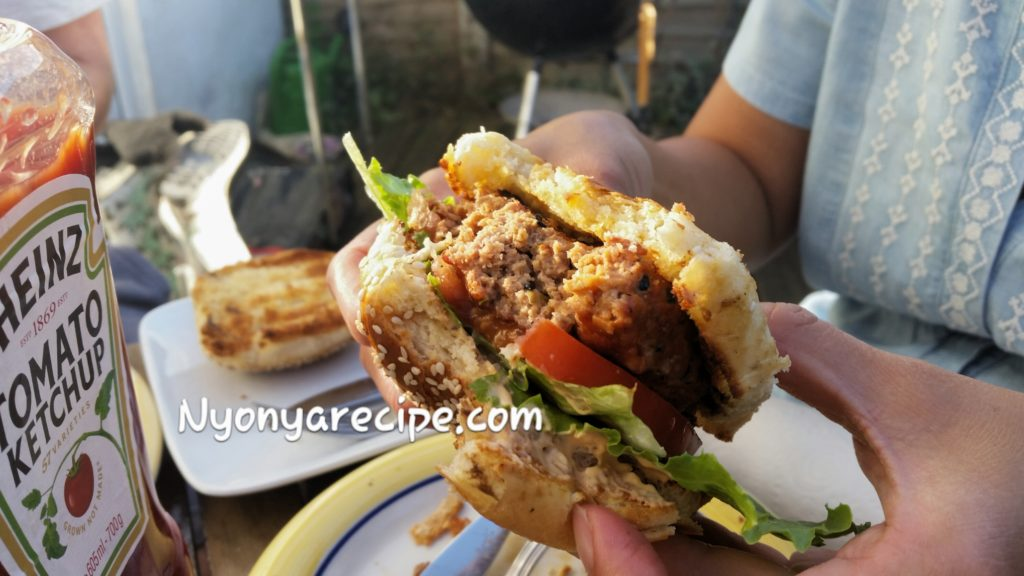 easy, burger, kimchi, barbecue