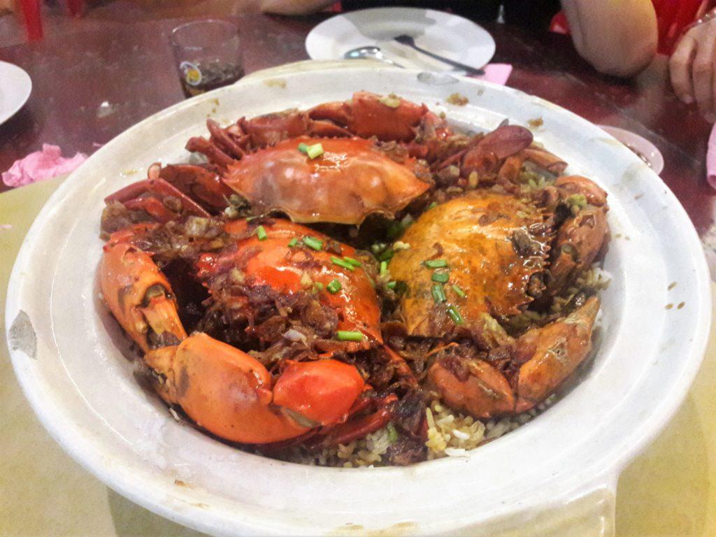 crab, seafood, clay pot , rice, #Penang, seafood, Bukit Tambun,