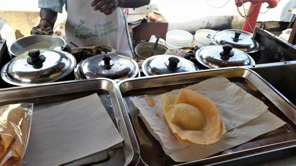 Indian, pancakes, Penang, hawker,
