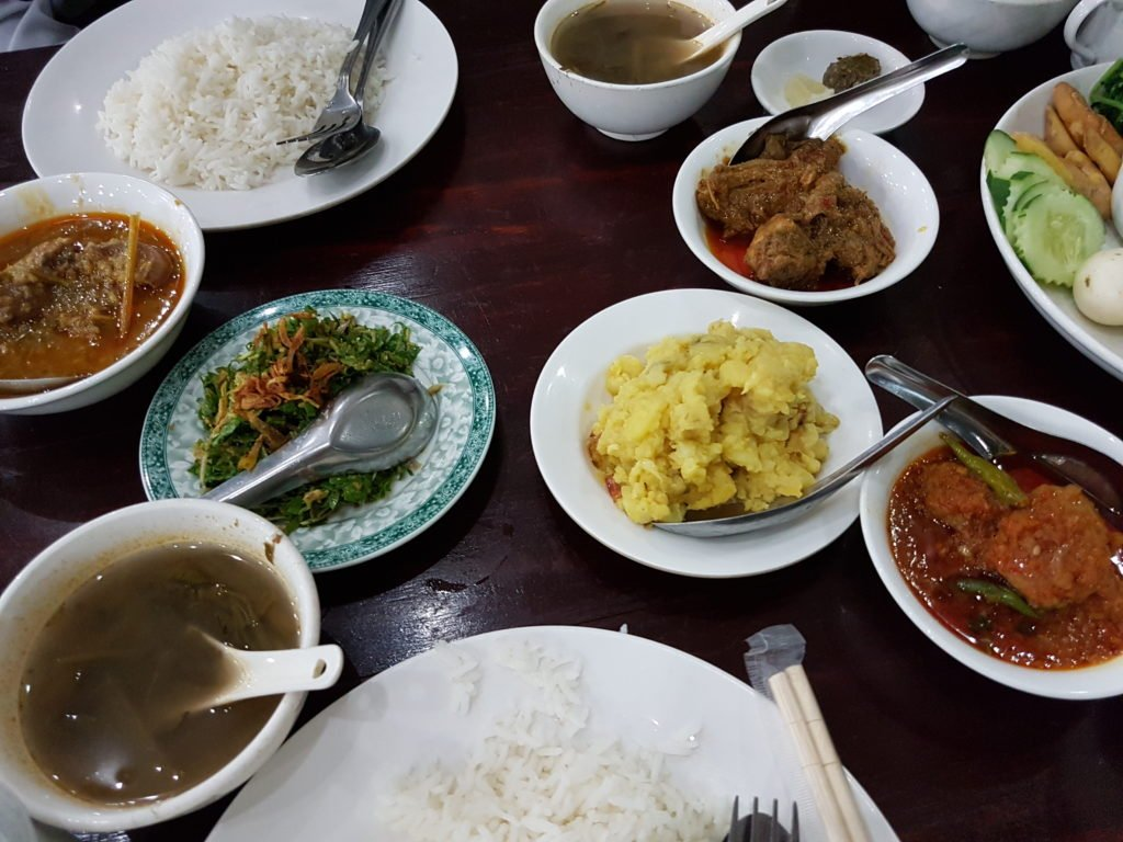 Burmese dinner,