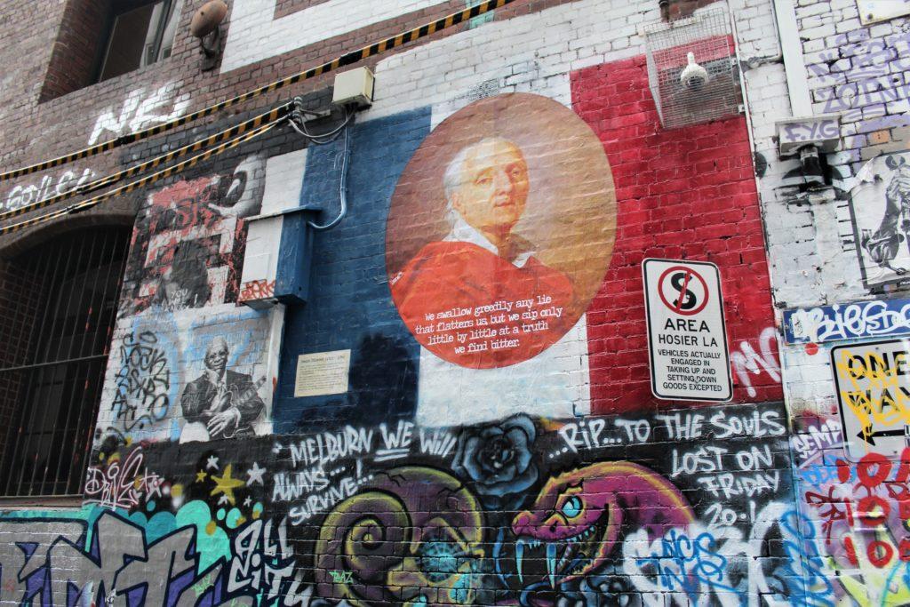 I am free tour, graffiti Melbourne,