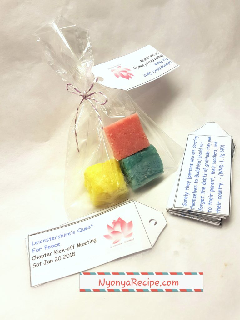 Quotations and final gift bags.