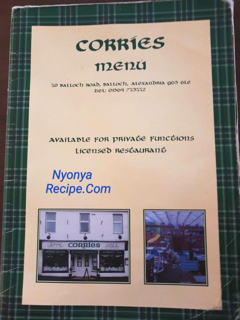 Corries, Bolloch, restaurant, Loch Lomond, traditional Scottish Food, Scotland,