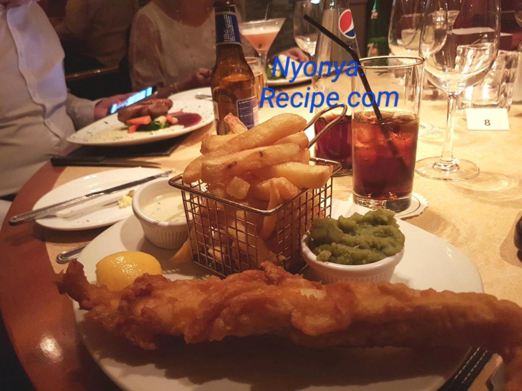 Fish, Duck Bay restaurant, Loch Lomond, Cameron House, Scotland,