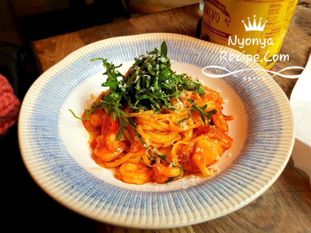 Jamie Oliver, Italian, London, Kingston, Lunch, Uni interview, Prawn, pasta,