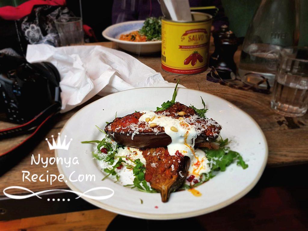 Jamie Oliver, Italian, London, Kingston, Lunch, Uni interview, aubergine, middle-east food,