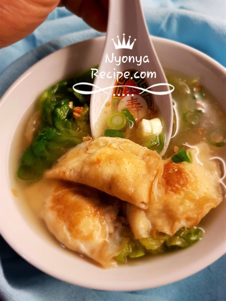 Turkey meat omelette soup, easy, healthy, Chinese