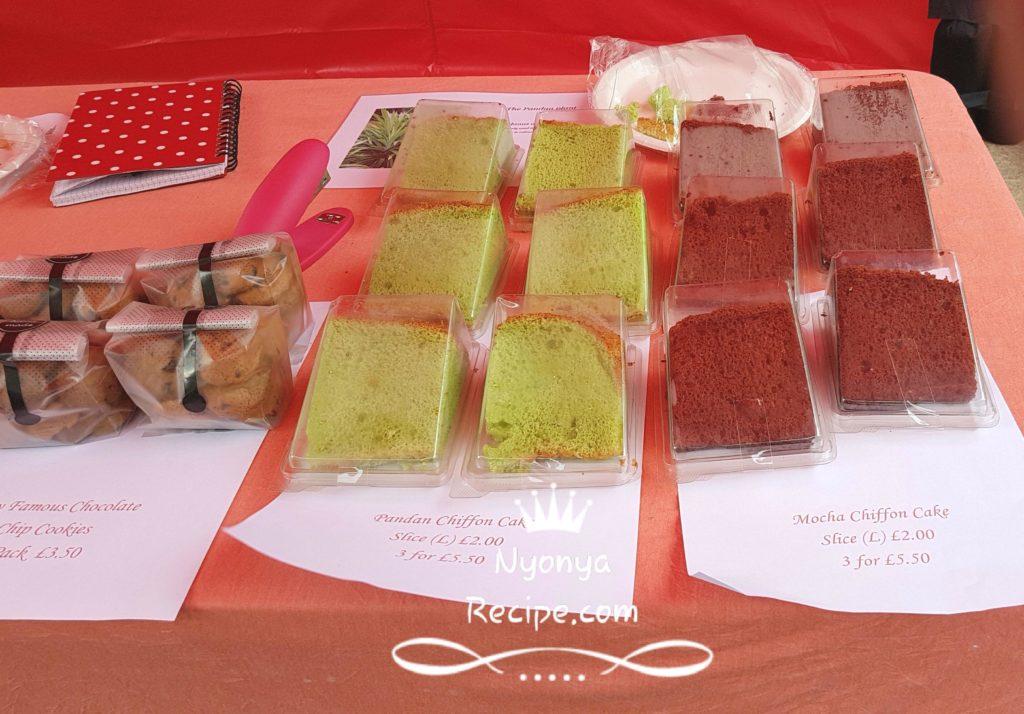 Very soft chiffon cakes, Malaysian favourites.