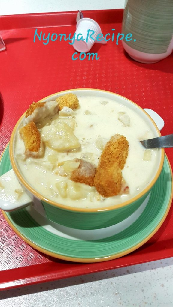 Cullen Skink is a traditional Scottish soup made of smoked Haddock. Delicious.