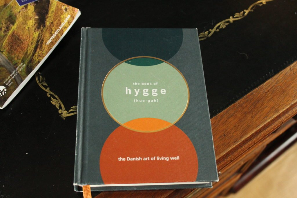 A book about hygge, the Danish art of living well.