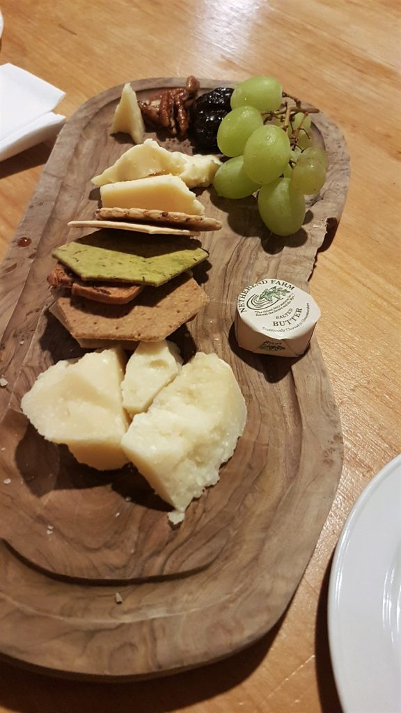 Cheese platter with various types of French cheese