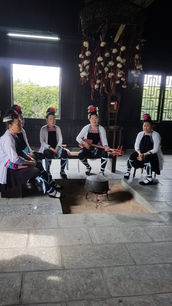Welcome song by the women.