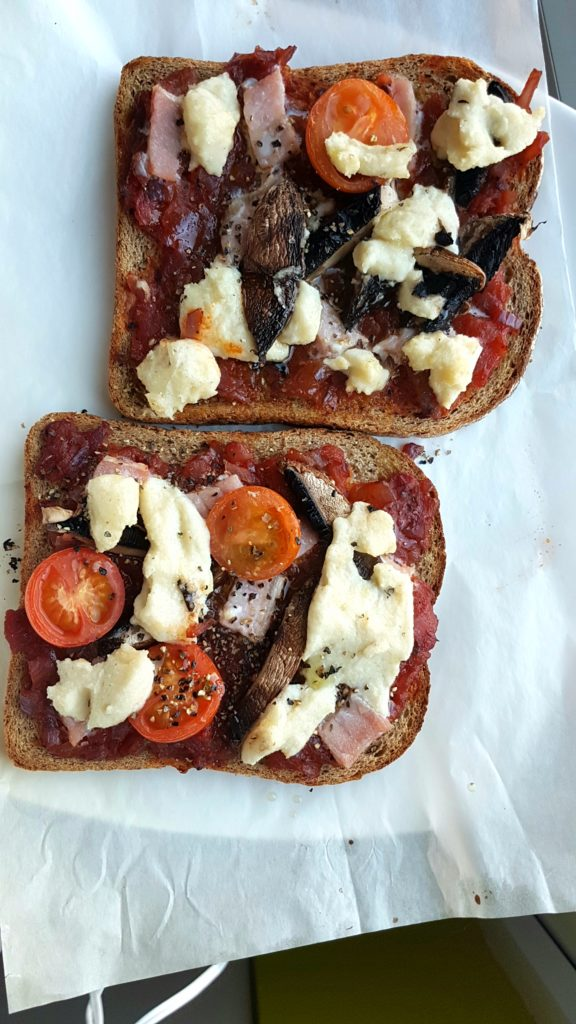Pizza on toast!